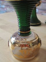 6 verres anciens pieds vert a Alsace Fteiburg  brsg vintage