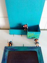Cadre Playmobil, pêle-mêle, range courier, porte clé