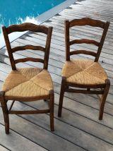 2 chaises de campagne,