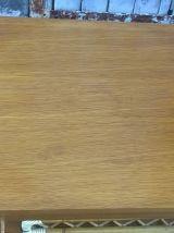 superbe armoire commode asymétrique en chêne et rotin