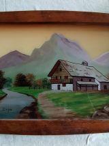 Plateau Art Déco signé Dope
