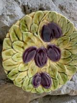 Ancienne assiette barbotine Sarreguemines