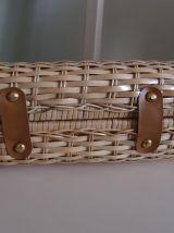 Petit sac à main en osier vintage