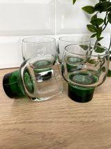 4 verres gobelets vintage