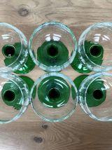 Set de 6 verres à vin blanc d'Alsace