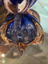 Bougeoir en verre de murano