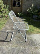 Chaise pliante en métal quadrillé 1980 Talin Italie