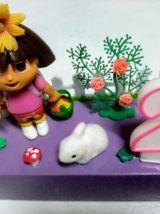 Bougeoir d'anniversaire Dora, Exploratrice, bougie chiffre
