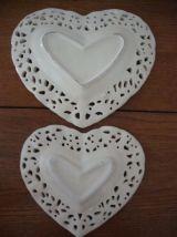 Vide poche et 2 coupelles assorties en céramique