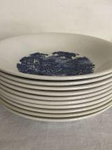 10 assiettes creuses, Luneville - Tradition