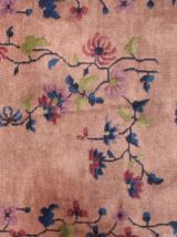 Tapis ancien Chinois Art Deco fait main, 1B456
