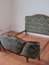 lit corbeille Louis XV et sa chaise assortie comme NEUF