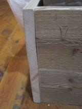 Lit double en bois recyclé 160x200cm