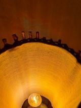 lampe osier ,rotin, bambou,dans le gout de louis sognot 1950