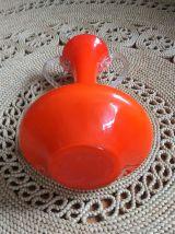 Joli vase en opaline orange (Italie) - Années 60