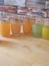 6 verres a orangeade  1940/50 bas sablées  vintage