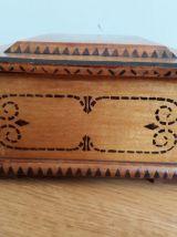 Boite coffret à bijoux à compartiments en bois