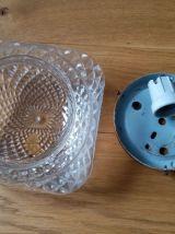 Applique ou plafonnier en verre moulé