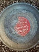 bassine  en  zinc  galva , vintage