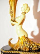Lampe de table années 40 style empire à torche