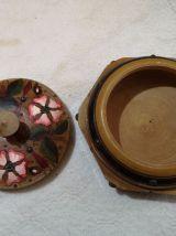 Boite à bijoux en bois peinte période 1950