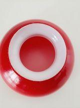 Abat-jour verre rouge opaline année 70