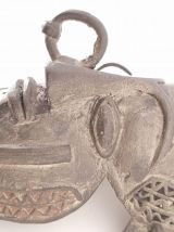 Masque africain en bronze laiton