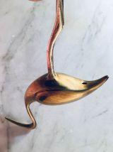 Flamant rose laiton