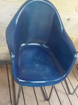 Lot de 6 fauteuils coque résine style Eames