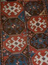 Tapis ancien Caucasien Kazak Mohan fait main, 1B521