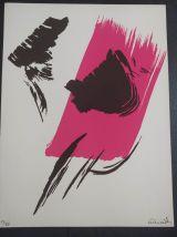 Gérard Schneider, suite de 5 sérigraphies abstraites
