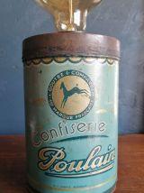"""Lampe vintage lampe de chevet lampe de bureau métal """"Poulain"""