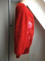 Gros gilet doudou rouge vintage - Taille unique - TBE