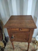 Table de chevet bois massif dp0921125 porte ancienne vintage