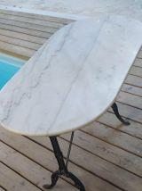 Table de bistrot en marbre blanc de Carrare, 1900