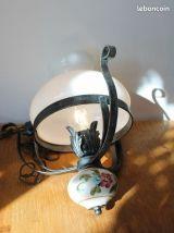 Suspension, lustre fer forgé années 60.