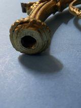LOT 7 ANCIENS BRAS DE LUSTRES EN LAITON MASSIF PIECES DETACH