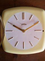 Horloge vintage céramique pendule silencieuse carrée Zalmtag