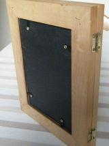 Pendule cadre Hangarter à poser en bois Vintage