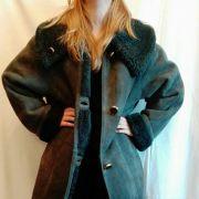 Manteau Shearling (cuir) gris bleuté taille L
