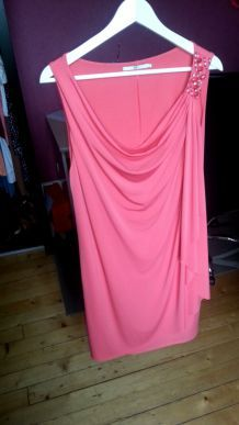 robe rose/corail