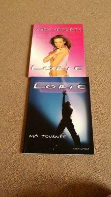 Livres Lorie 'Mes secrets' et 'Ma tournée'