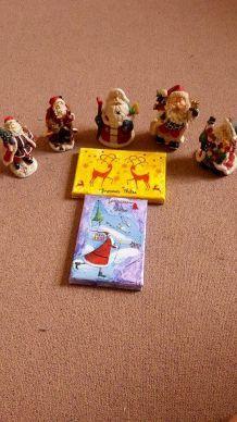 Lot objets décoratifs Noël.