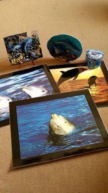 Lot objets décoratifs dauphins