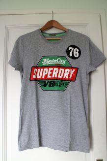 T-shirt Superdry gris