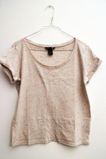 t-shirt moucheté multicolore H&M