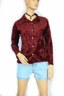 chemise vintage en velours
