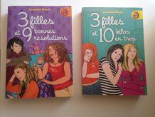 """Livres """"3 filles et..."""""""