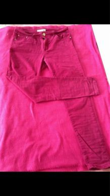 Slim rouge/grenat taille 40