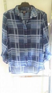Chemise loose à carreaux